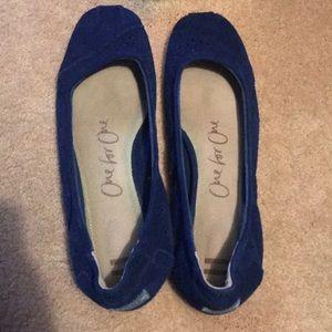 Blue Toms. Flats